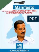 Punjab Manifesto AAP 2017