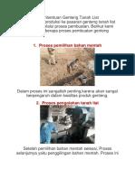 Proses Pembentuan Genteng Tanah Liat