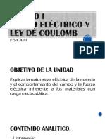 Unidad I-Campo Electrico y Ley de Coulomb