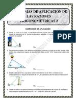 Problemas de Aplicación de Las Razones Trigonométricas - Recuperación