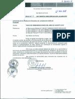 Memorandum Multiple 617 - Arh - Pago de Remuneraciones Agosto 2017