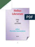 Helluo Librorum (Fise de Lecturi), editor Florentin Smarandache