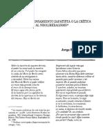 Raíces Del Pensamiento Zapatista o La Crítica Al Neoliberalismo