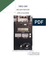 MFJ269 Manual