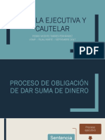 Proceso ejecutivos de obligación de dar suma de dinero