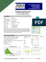 Kenaitze Wind Data Report