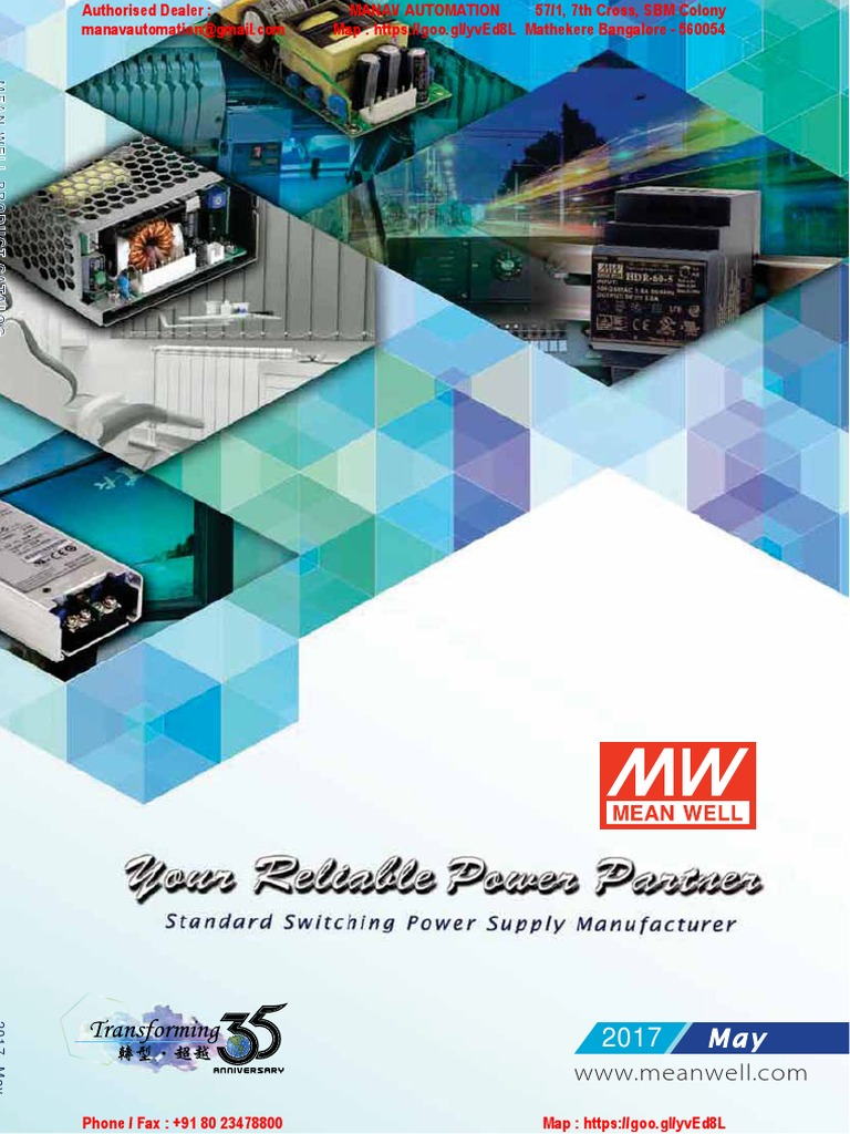 Meanwell Catalog Industrial May 17 From Manav Automation 24vdc 45a Power Supply Dealer Electrical Engineering Components