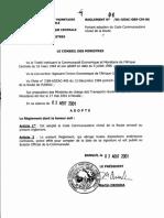 CEMAC Reglement 2001 04 Code de La Route