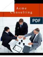 Acme Consulting Services Sample Business Plan