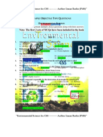 Environmental Scinece (MCQs)