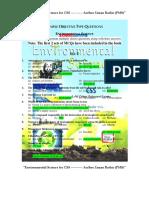 Environmental Scinece (MCQs)
