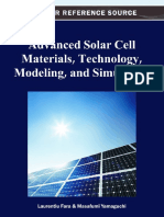 Advanced Solar Cell Materials, Technology, Modeling and Simulation