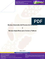 Normas Generales Proceso de Formacion y Normas Especificas Para Cursos y Talleres 2017