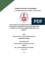 Aplicación de Las Buenas Prácticas Del PMBOK Del Proy Las Bambas