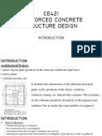 Introduction-summary Reinforcement Concrete