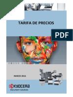 Tarifa de Precios_Kyocera