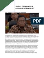 Pemerintah Bentuk Satgas Untuk Penyelesaian Hambatan Perizinan