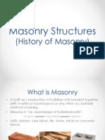Masonry Structures-History