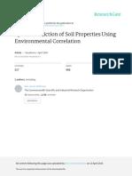 Spatial Prediction of Soil Properties Using Enviro