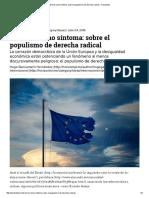 El Brexit Como Síntoma Sobre El Populismo de Derecha Radical – Horizontal