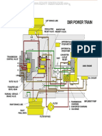 Material Caterpillar d8r Bulldozer Transmission Power Train Hydraulic System Components Diagrams