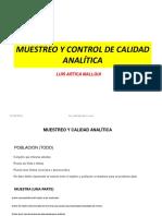Clase 2.2. Muestreo y Control de Calidad Analitica