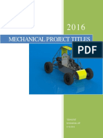 2016 and 2017 Latest Mechanical Project List