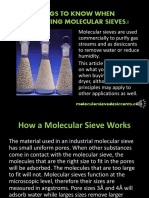 Molecular Sieve Applications