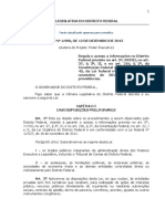 CLDF - Lei Distrital n. 4.990.12 Do Acesso à Informação