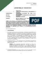 Sanción a Universidad Autónoma del Perú- 2017