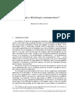 Analogía y Morfología Contemporánea