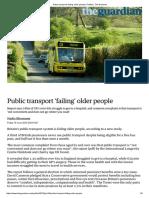 Public Transport 'Failing' Older People _ Politics _ the Guardian