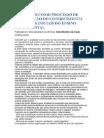 AVALIAÇÃO COMO PROCESSO DE CONSTRUÇÃO DO CONHECIMENTO NAS SÉRIES INICIAIS DO ENSINO FUNDAMENTAL.docx