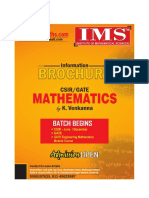 Csir Net Information Brochure for Session by IMS Institute