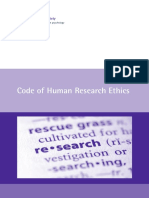 Code of Human Research Ethics (2014)