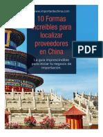 10 Formas Localizar Proveedores China