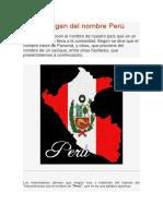 Origen Del Nombre Del Peru