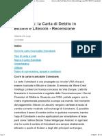 Coinsbank - La Carta Di Debito in Bitcoin e Litecoin - Recensione