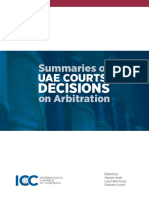 ICC Summaries of UAE Courts Decisions on Arbitration