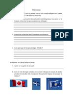 Introduction COurs de Français Migration Québec