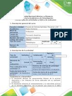 Guía de actividades y rúbrica de evaluación - Tarea 2 - Realizar ejercicios Química descriptiva.docx