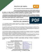 GARANTYA TYCO ELECTRONICS