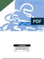 Yzf r6 2009 User Manual