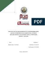 """Influencia de los microcréditos en los microempresarios que hayan obtenido financiamiento de la entidad bancaria Banesco, en su división """"Banca Comunitaria Banesco"""" (2015 – 2016).-2"""