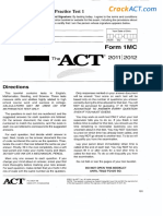 Practice Test 1 Form 1MC 080658