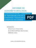 Primer Informe de Agrometeorología