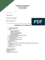 Programa Matrimonio 06-05-17