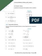 Problemario Cálculo Diferencial e Integral Unidad 2