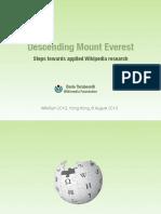 Wikipedia Research Keynote WikiSym 2013