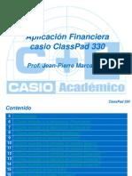Menu Finanzas de CLASSPAD